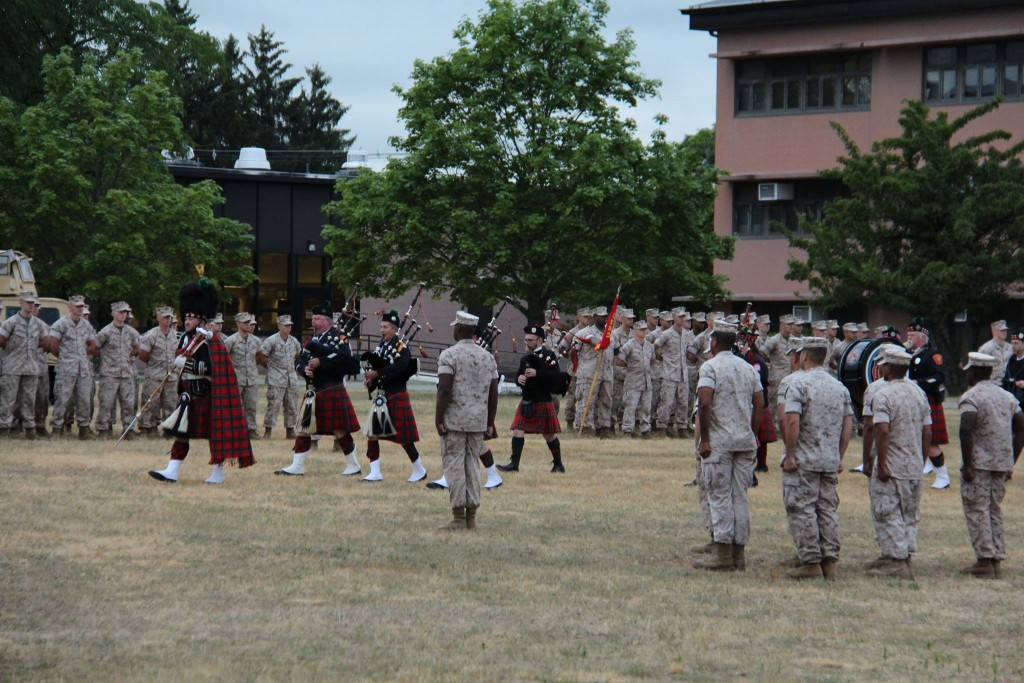 Sound off marching before the troops
