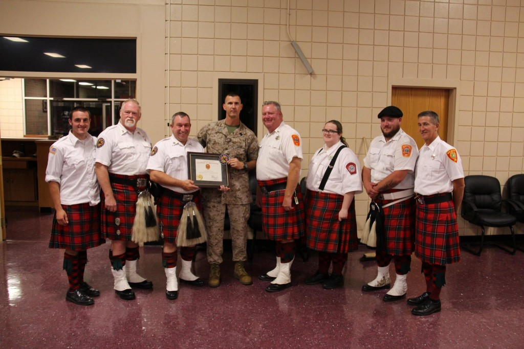 group pic with Sgt Major Linch
