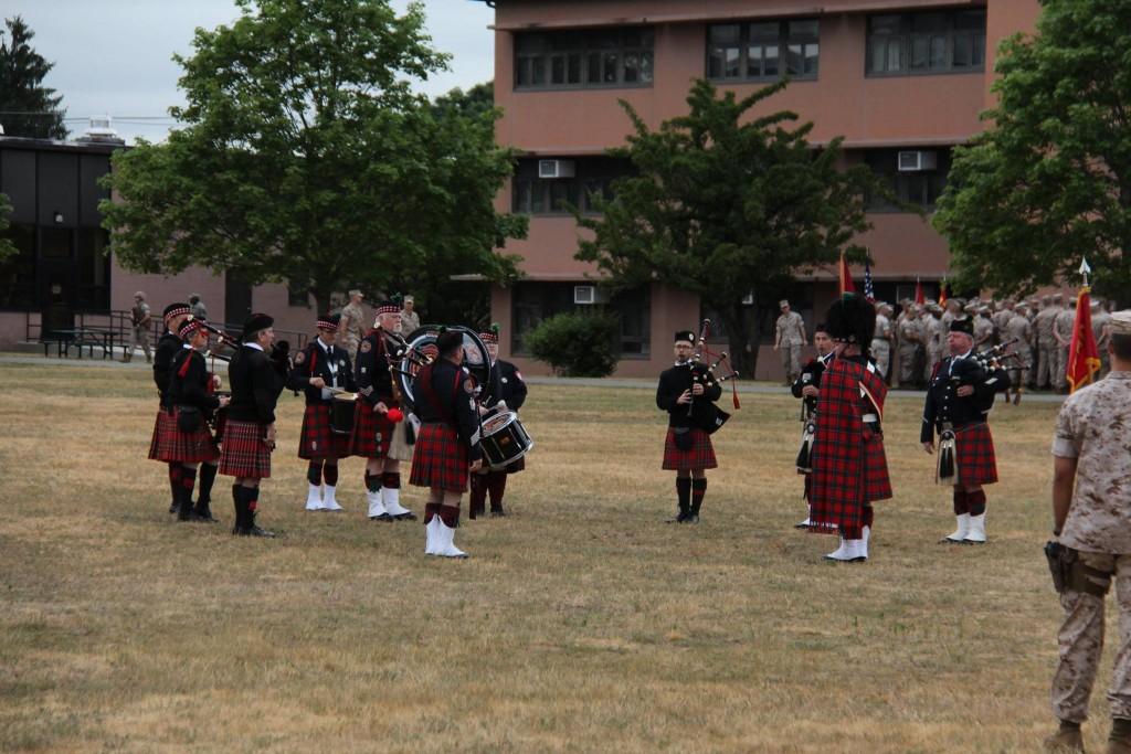 Pre-parade serenade